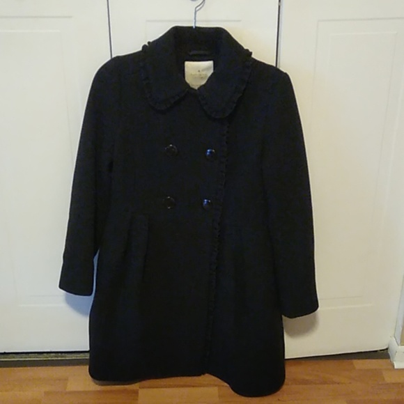 Kate Spade Wool Pea Coat with Bow